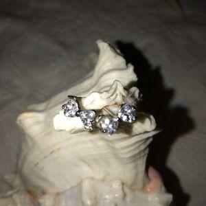 Jewelry - Cubic Zirconia Bow tie Pierced Earrings